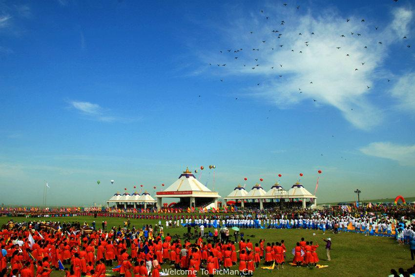 草原盛会那达幕 - 宁静枫林 - 呼伦贝尔长城摄影旅游俱乐部