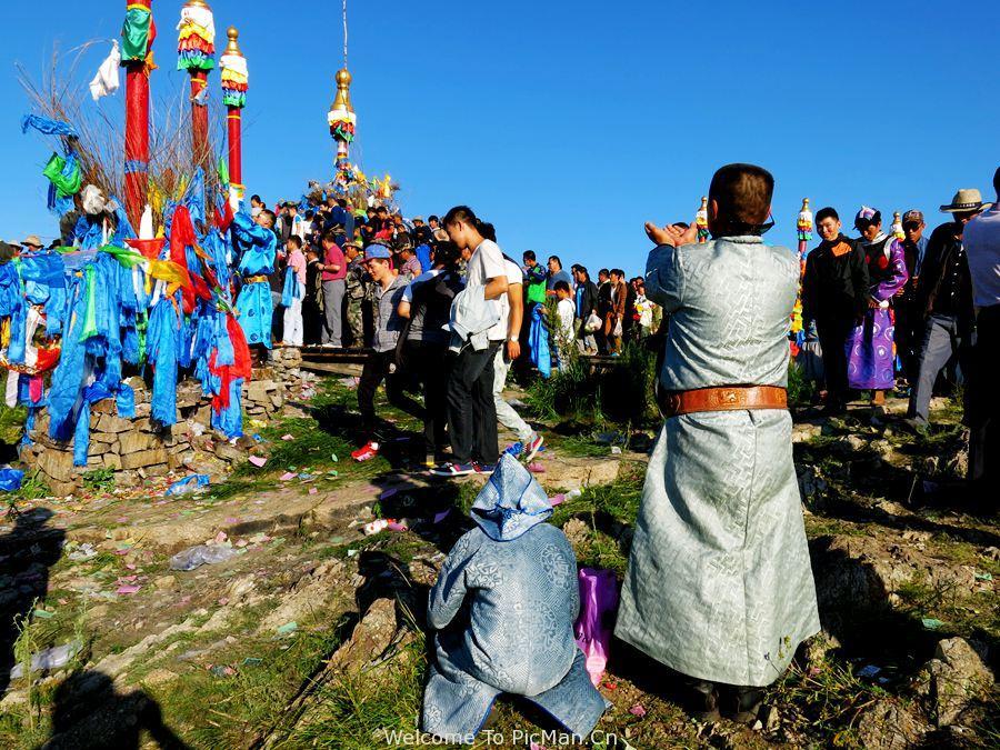 呼伦贝尔大型祭敖包活动民俗风情摄影创作团 - 宁静枫林 - 呼伦贝尔长城摄影旅游俱乐部