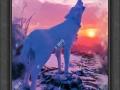 装饰油画《野狼